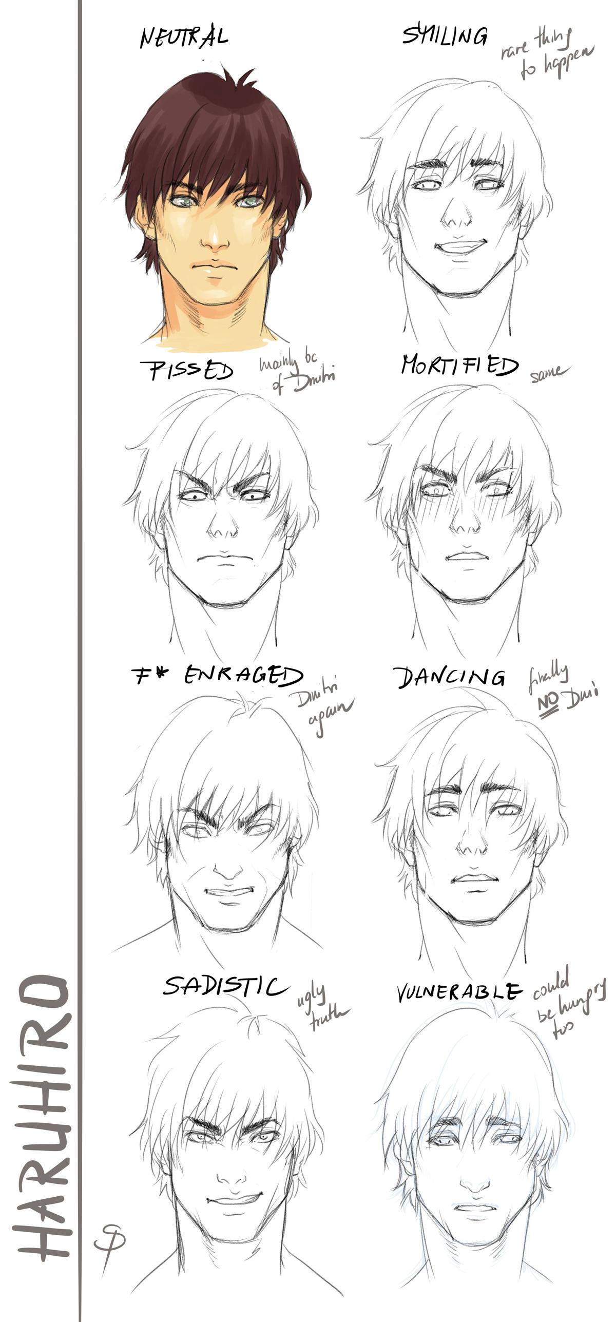 Haruhiro expressions